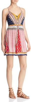 AQUA Patchwork Lace-Up Dress - 100% Exclusive $78 thestylecure.com