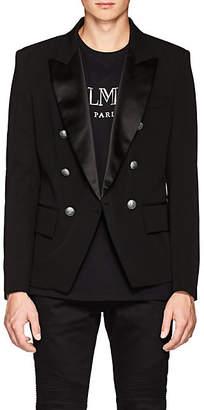Balmain Men's Wool Double-Breasted Sportcoat - Black