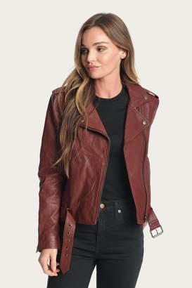 Frye Carly Leather Moto Jacket