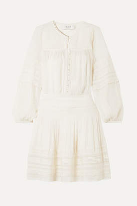 Sea Azzedine Embroidered Crepe De Chine Dress - Cream