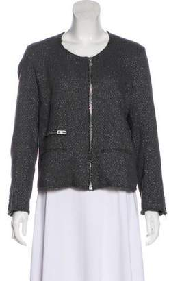 IRO Tweed Long Sleeve Collarless Blazer