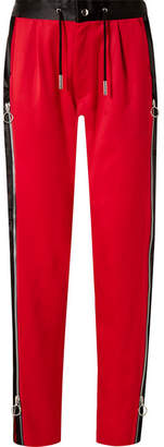 Marques Almeida Marques' Almeida Zip-embellished Satin-trimmed Wool Track Pants