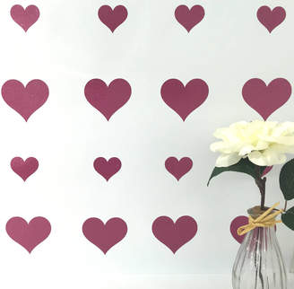 Wall Art Quotes & Designs By Gemma Duffy Glitter Heart Stickers