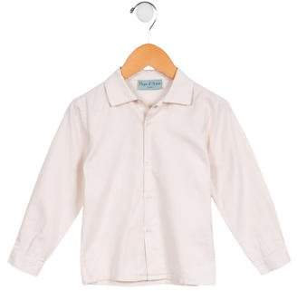Papo d'Anjo Girls' Twill Button-Up Top