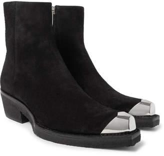 Calvin Klein Metal Toe-Cap Suede Boots