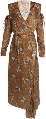 Preen by Thornton Bregazzi Hayett printed satin-devoré dress