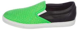 DSQUARED2 Woven Leather Sneakers