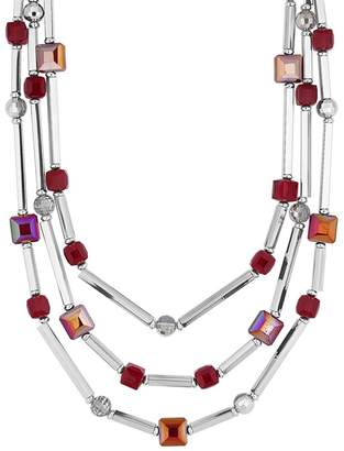 Principles by Ben de Lisi - Designer Cube Beaded Multi Row Necklace