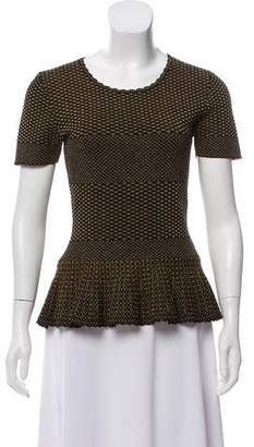 Torn By Ronny Kobo Metallic Peplum Top