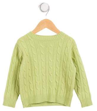 Papo d'Anjo Girls' Cashmere Cable Knit Sweater