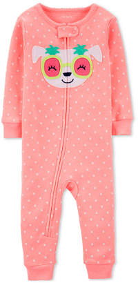 Carter's Carter Cotton Footless Pajamas with Dog Face Applique