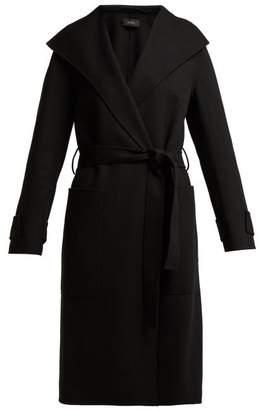 Joseph Lista Tie Waist Wool Blend Coat - Womens - Black
