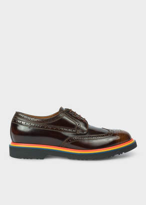 Paul Smith Men's Tan High-Shine Leather 'Crispin' Brogues