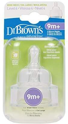 Dr Browns Dr. Brown's Natural Flow 2-pk. Level 4 Wide-Neck Nipples baby gift idea by Dr. Brown's Natural Flow 2-pk. Level 4 Wide-Neck N