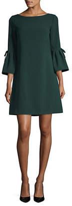 Eliza J Bell-Sleeve Bow Shift Dress