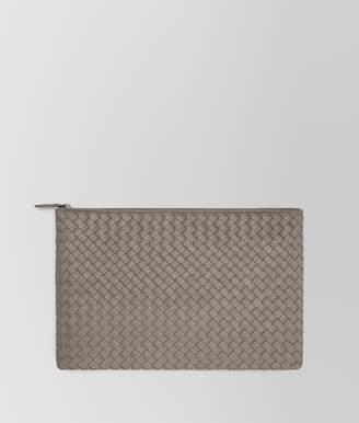 Bottega Veneta LARGE DOCUMENT CASE IN STEEL INTRECCIATO NAPPA LEATHER
