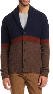 Saks Fifth Avenue COLLECTION Yak Colorblocked Cardigan