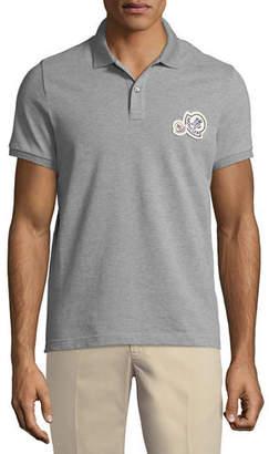 bf850600845 Moncler Logo-Patch Pique-Knit Polo Shirt