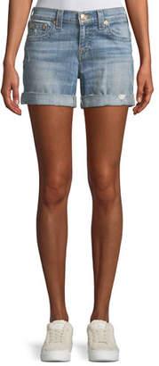 True Religion Jayde Mid-Rise Denim Shorts