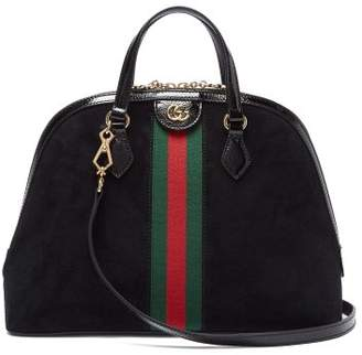 Gucci Ophidia Gg Suede Tote Bag - Womens - Black