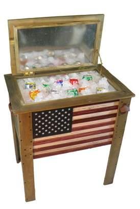 Backyard Expressions 57 Qt. Decorative Outdoor American Flag Cooler