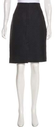 Armani Collezioni Jacquard Wool & Silk-Blend Skirt