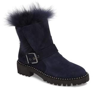 Theresa CECELIA NEW YORK Boot with Genuine Fox Fur Trim