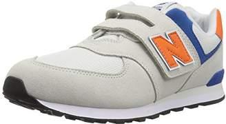 New Balance Boys' 574v1 Hook Loop Sneaker