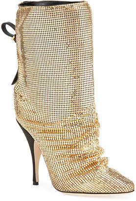 Marco De Vincenzo Chainmail Pointed Booties