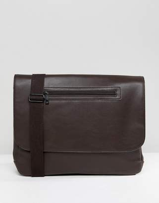 French Connection Messenger Bag In Brown
