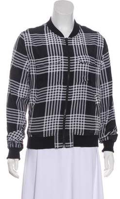 Equipment Plaid Bomber Jacket