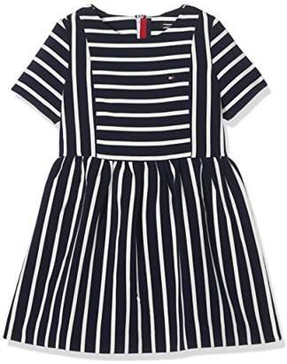 Tommy Hilfiger Girl's AME BI Stripe Dress S/S,(Size: 14)