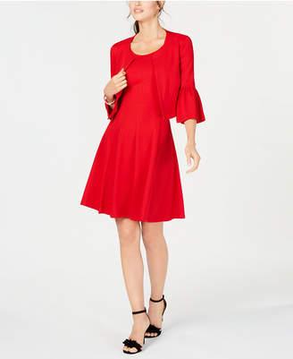 Robbie Bee Petite Sleeveless Dress & Bell-Sleeve Jacket