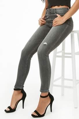 Forever 21 Pull-Ring Skinny Jeans