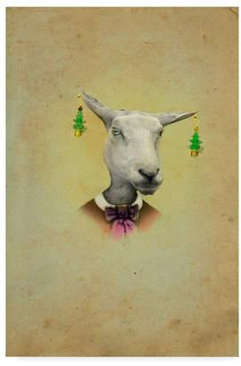 """J Hovenstine Studios 'Christmas Earrings' Canvas Art - 12"""" x 19"""""""