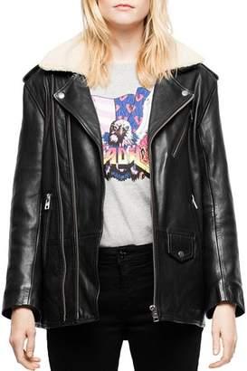Zadig & Voltaire Leen Leather Moto Jacket