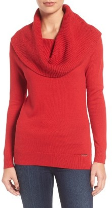 Women's Michael Michael Kors Cowl Neck Sweater $125 thestylecure.com