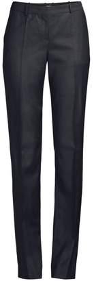 BOSS Tamea Tonal Minidessin Straight Leg Virgin Wool Suiting Trouser
