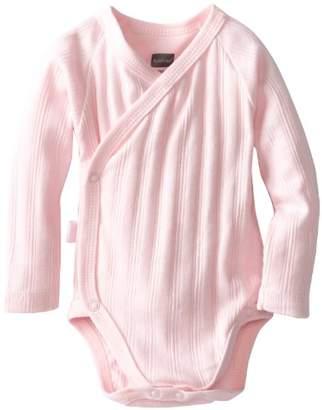 Kushies Baby Everyday Layette Wrap Long Sleeve Bodysuit (Rib),1 Pack