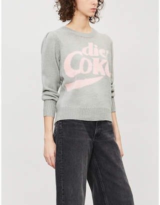 Wildfox Couture Diet Coke intarsia-motif knitted jumper