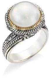 Konstantino Thalia 18K Yellow Gold, Sterling Silver& Cultured Pearl Ring