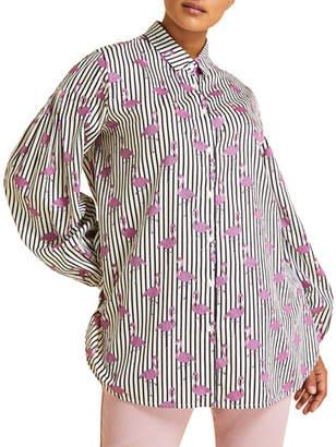 Marina Rinaldi Plus Size Felicita Flamingo-Print Shirt