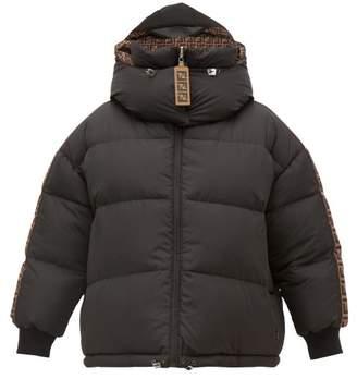 Fendi Ff Print Reversible Down Filled Puffer Jacket - Womens - Black
