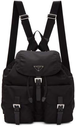 Prada Black Nylon Regular Backpack