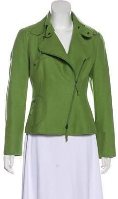 Akris Punto Wool & Angora Zip-Up Jacket