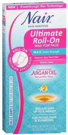 Nair Argan Oil Ultimate Roll-On Hair Remover Wax Face