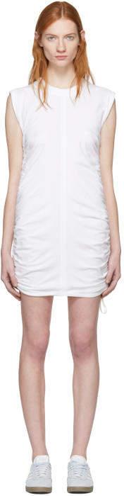 Alexander Wang White High Twist Side Tie Dress