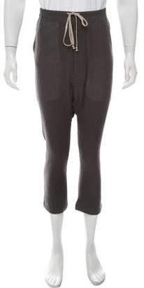 Rick Owens Cropped Virgin Wool Pants