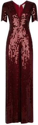 Temperley London Heart Charm Sequin Jumpsuit