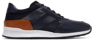Tod's Low Top Leather Trainers - Mens - Navy